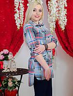 Рубашка удлиненная женская светло-серая, фото 1