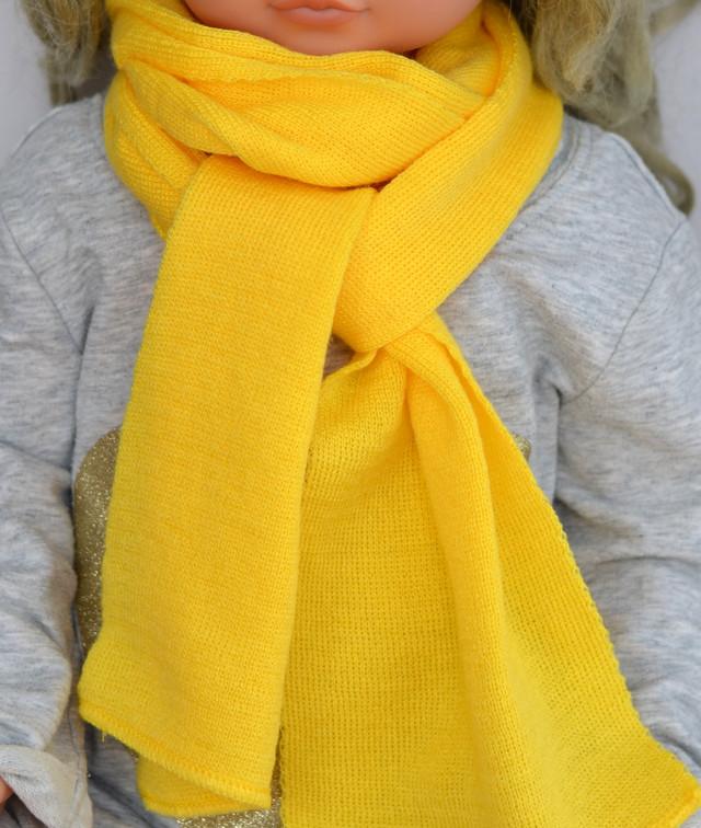 шарф детский желтый