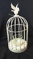 Клетка-подсвечник с птичкой, 22х10см, 240\180 (цена за 1шт. +60 грн)