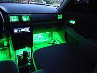 Подсветка салона автомобиля—4х15 на пульте, многоцветная!