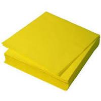 Салфетки двухслойные желтые 33х33см 250шт/уп