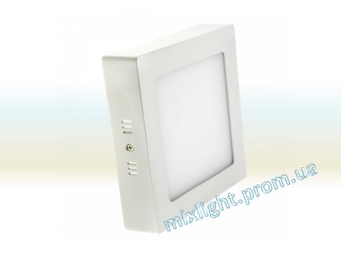 Светодиодный светильник 18W накладной квадрат 4500K Z-light