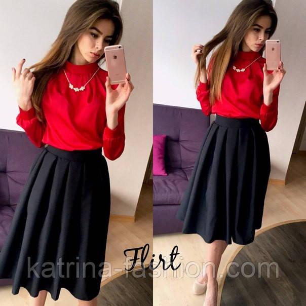 6ca45c4aff6 Женская блуза с украшением и юбка (отдельно)  продажа