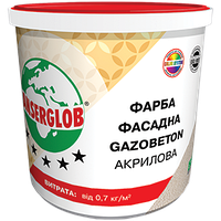 Краска фасадная структурная Gazobeton акриловая 14 кг