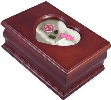 Оригинальная шкатулка для украшений King Wood 9022B-4 вишневый