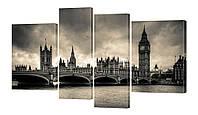 Модульная картина 180 Лондон.Сепия