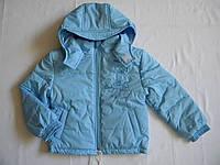 """Весенняя куртка детская для мальчика """"Зайчик"""" р. 80 см,86 см,92 см."""