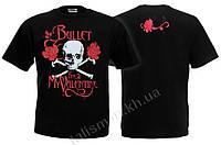 BULLET FOR MY VALENTINE (череп и розы) - футболка Таиланд