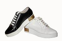 Туфли на шнуровке белая кожа