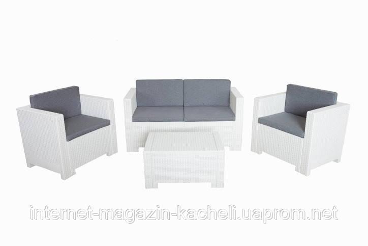 Комплект мебели из искусственного ротанга белый COLORADO-2