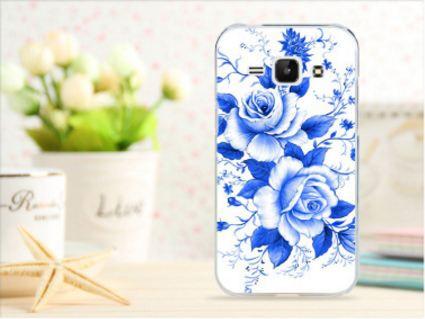 Чехол для Samsung Galaxy S3/ i9300 панель накладка с рисунком синие розы