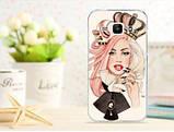 Чехол для Samsung Galaxy S3/ i9300 панель накладка с рисунком девушка, фото 2