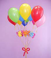 Гелиевые шарики с цветами для торжественного события
