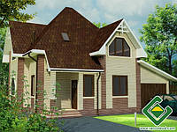 Строительство дома из сип панелей 132,32 м.кв., «ГЛОРИЯ 2»