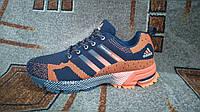 Кроссовки адидас марафон фликнит синие с оранжевым