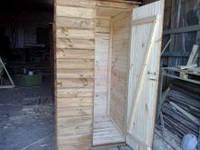 Туалет дачный, деревянный эконом вариант