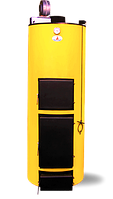 Двухконтурный твердотопливный котел длительного горения Буран П 40 У+ГВС (Чугунный колосник)