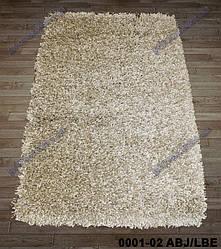 Ворсистый ковер Меридиан shaggy, однотонный бежевый