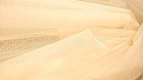 Ткань текстильная Сетка- однотонная мелкое сечение №1 Ваниль