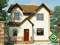 Строительство дома из сип панелей 112,66 м.кв., «БИМ»