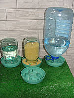 Кормушка - поилка под пластиковую баклажку с широким горлом от 3-5 литров