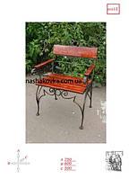 Кресло кованое деревянное
