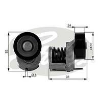 Натяжной ролик генератора Skoda Octavia A5 1.6 FSI 2004-->2012 Gates (Бельгия) T38439