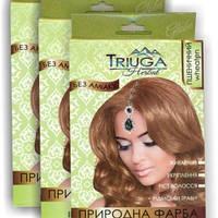 Краска для волос на основе хны - пшеничный, Серия Триюга Хербал, Triuga Herbal, 25 гр