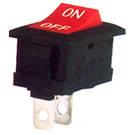 Переключатель клавишный узкий КП-5-220В белый корпус