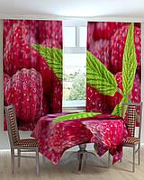 Фотошторы и скатерть на кухню Малина Код: ART 0440