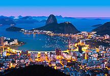 Флизелиновые фотообои Ночной Рио-де-Жанейро Код: 951