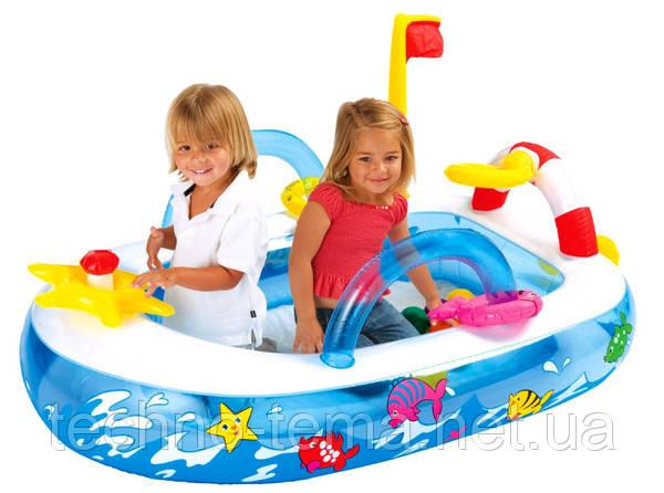 """Надувной детский игровой центр Intex, 48660 """"Лодка"""""""