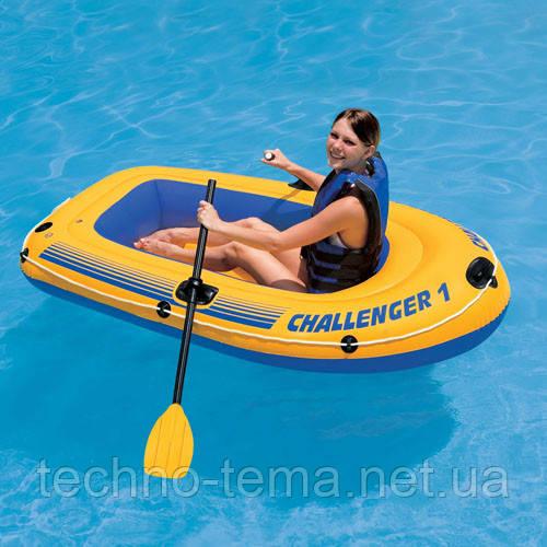 "Надувная лодка Intex  ""Challenger 1"" 193х108х38 см  (68365)"