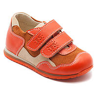 Кожаные кроссовки FS Сollection для девочки, оранжевые, размер 20-30