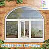 Окна с аркой металлопластиковые Вишневое
