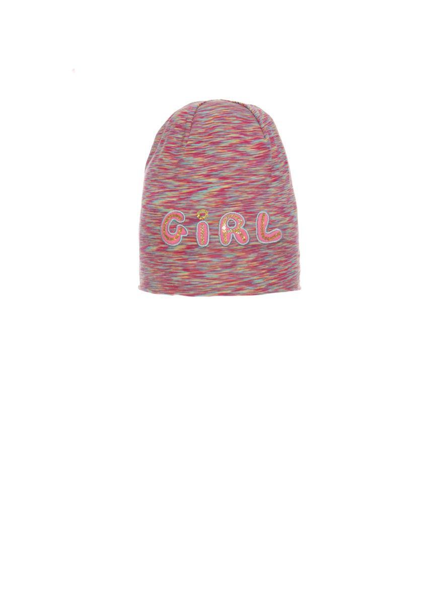 Оригінальна, трикотажна шапочка для дівчинки з довгим верхом