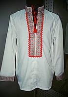 Рубашка украинская для мальчиков х/б (длиный рукав).