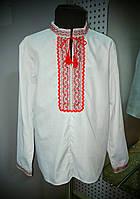 Рубашка украинская для мальчиков х/б (длинный рукав)(р.38-42)., фото 1
