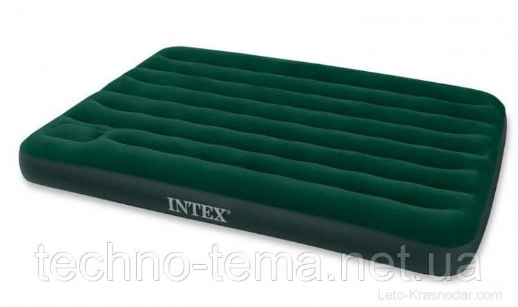 Надувной матрас Intex  со встроенным ножным насосом 203х152х22 см (66929)