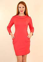 Трикотажное короткое платье 48 р