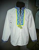 Рубашка украинская для мальчиков х/б(длинный рукав)(р.28-36), фото 1