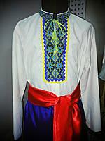 Рубашка украинская для мальчиков х/б(длиный рукав)