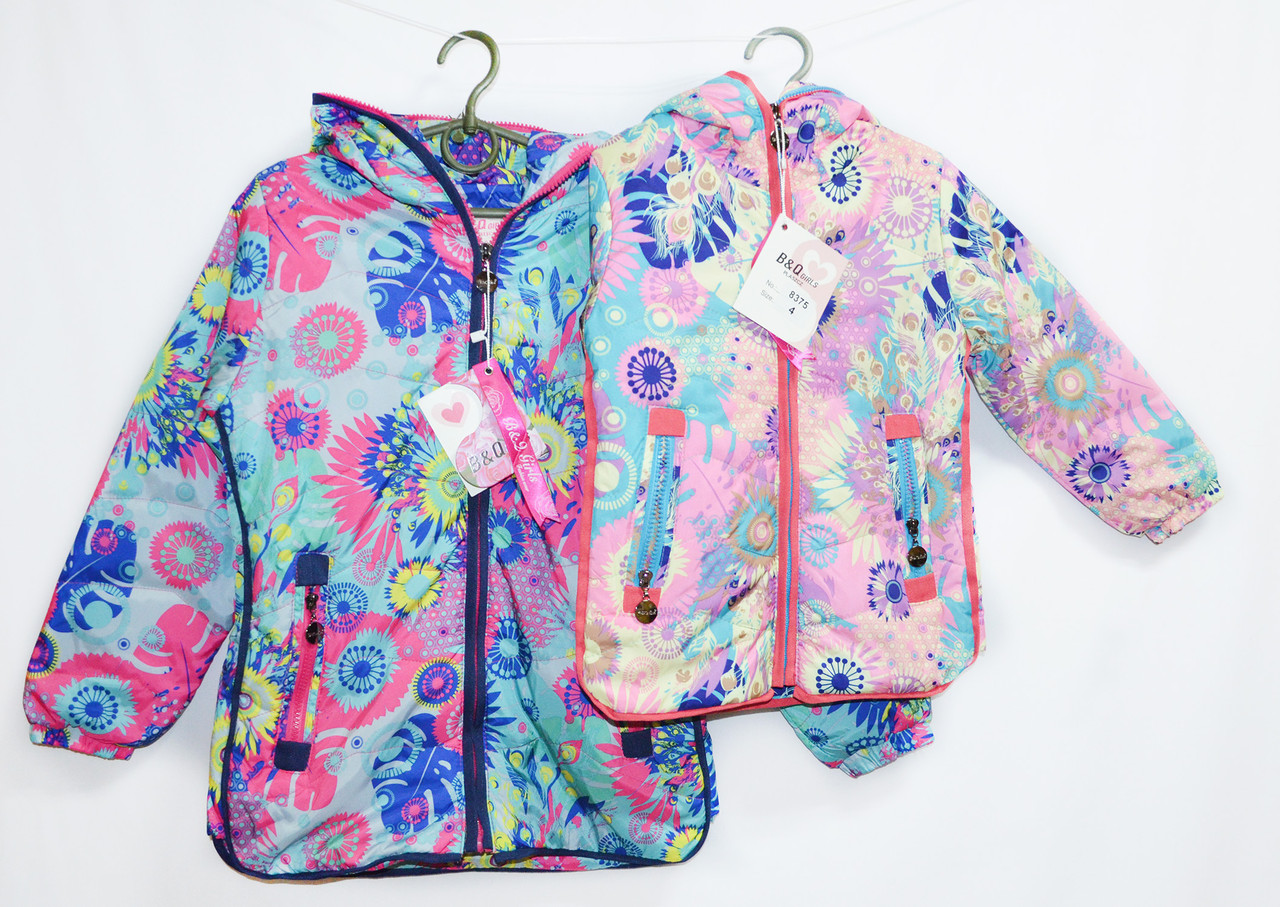 Курточка детская демисезонная теплая для девочки. от 4 до 12 лет. №8375