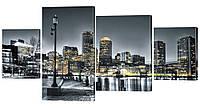 Модульная картина 250 ночной город