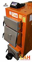 Стальной твердотопливный котел САН Эко мощность 25 кВт с электронной автоматикой