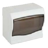 Щит ящик щиток пластиковый 4 модуля автомата распределительный накладной цена купить, фото 1