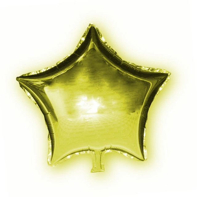 Фольгированный шар Звезда золотая, 45х45см. Воздушные шарики оптом.
