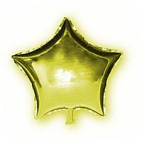 Фольгированный шар Звезда золотая, 45х45см. Воздушные шарики оптом. , фото 1