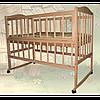 Детская кроватка Sofia Eco S-3 на колесах (арт.13303)