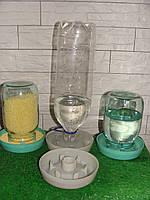 Поилка под пластиковую бутылку от 0.5-2 лит